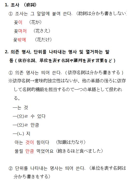 韓国語中級編14 分かち書き | 韓国語教室セットン神戸